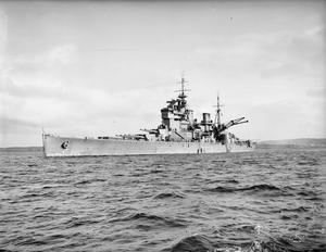ON BOARD THE BATTLESHIP HMS PRINCE OF WALES. 20 APRIL 1941.
