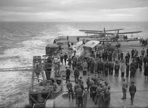 ON BOARD HMS VICTORIOUS EN ROUTE FROM HVALFJORD, ICELAND TO SCAPA FLOW. 25 TO 30 NOVEMBER 1941.