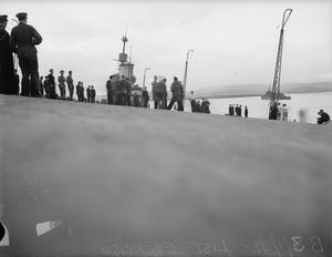 LISTING EXERCISE. 3 FEBRUARY 1942, ON BOARD HMS VICTORIOUS AT SCAPA ANCHORAGE.
