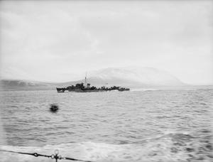 SHIPS AT HVALFJORD, ICELAND. 10 TO 22 NOVEMBER 1941, ON BOARD THE TRIBAL CLASS DESTROYER HMS ASHANTI.