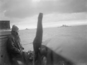 THE BATTLE OF THE ATLANTIC. 28 NOVEMBER TO 10 DECEMBER 1941, ON BOARD THE DESTROYER HMS VANOC.