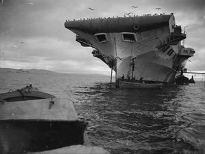 HMS VICTORIOUS AT ANCHOR. 18 DECEMBER 1941, SCAPA.