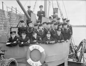 THE OFFICERS AND MEN OF HIS MAJESTY'S TRAWLERS. OCTOBER 1941, AT DOVER.