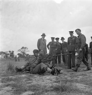 WEST INDIAN VOLUNTEERS JOIN RAF IN BRITAIN: TRAINING AND INSPECTION, ENGLAND, UK, JULY 1944
