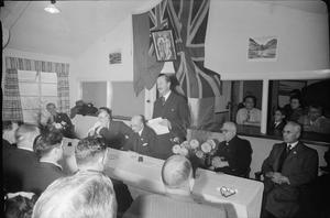 GEORGE CROSS CLUB: REST AND RECREATION FOR MALTESE MERCHANT SEAMEN IN CARDIFF, WALES, UK, SEPTEMBER 1944