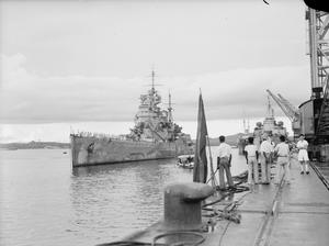 ARRIVAL OF HMS PRINCE OF WALES AT SINGAPORE. 4 DECEMBER 1941.