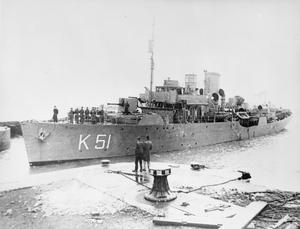 HMS ROCKROSE, BRITISH FLOWER CLASS CORVETTE.