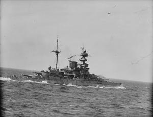 ON BOARD THE CRUISER HMS HERMIONE OPERATING WITH HMS MALAYA AND DESTROYERS OF FORCE H. 10 TO 13 FEBRUARY 1942, AT SEA IN THE ATLANTIC.