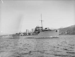 HM YACHT CUTTY SARK. 21 FEBRUARY 1942, RIVER CLYDE, NEAR GOUROCK.