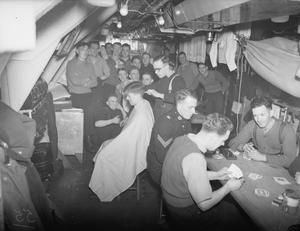 ROYAL MARINES ON BOARD HMS VICTORIOUS. 10 JANUARY TO 5 FEBRUARY 1942, AT SCAPA, AT SEA, AND AT HVALFJORD ICELAND.