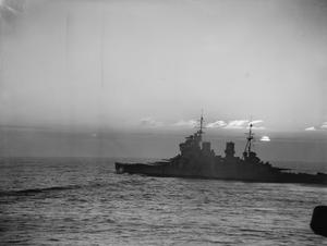 ON BOARD HMS VICTORIOUS. FEBRUARY 1942, AT SEA IN THE NORTH ATLANTIC AND OFF THE NORWEGIAN COAST. DURING ON OFFENSIVE AGAINST ENEMY SHIPPING AND WHILE COVERING A RUSSIAN CONVOY.