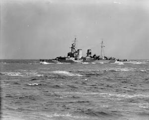 ON BOARD THE BRITISH CRUISER HMS SHROPSHIRE. 8 TO 12 MARCH 1942.