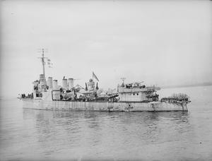 HMS BUXTON, BRITISH TOWN CLASS DESTROYER. 22 MAY 1942, LIVERPOOL.