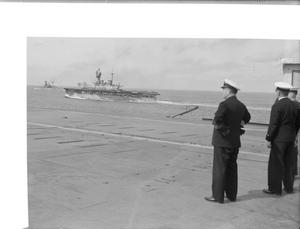 FORCE H OPERATIONS IN THE MEDITERRANEAN. 1942, ON BOARD THE AIRCRAFT CARRIER HMS ARGUS.