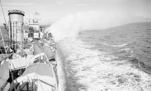 ON BOARD HMS ASHANTI ESCORTING A CONVOY TO RUSSIA. MARCH 1942, IN THE NORTH SEA AND NORTH ATLANTIC, INCIDENTS DURING THE CONVOY.