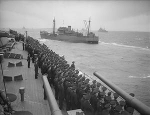 HM THE KING'S VISIT TO SCAPA. 8 JUNE 1942.