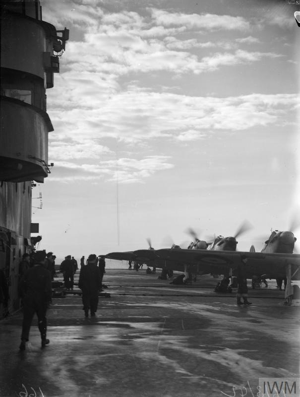 FLYING EXERCISES FROM HMS VICTORIOUS. 14 TO 16 MARCH 1942, ON BOARD HMS VICTORIOUS AT SCAPA FLOW AND AT SEA OFF HOY.