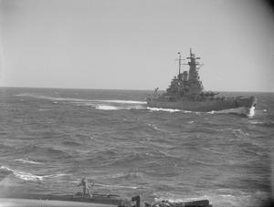 NAVAL CO-OPERATION BETWEEN BRITAIN AND AMERICA. 25 APRIL TO 3 MAY 1942, ON BOARD HMS VICTORIOUS AT FLEET ANCHORAGE AND AT SEA.