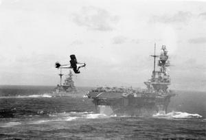 THE BRITISH AIRCRAFT CARRIER HMS ARGUS ON WAR SERVICE. 1 APRIL 1942, ON BOARD HMS ARGUS.