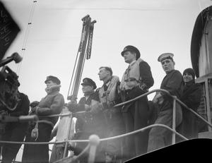 ON BOARD THE AIRCRAFT CARRIER HMS VICTORIOUS ON RUSSIAN CONVOY. 11 TO 18 APRIL 1942.