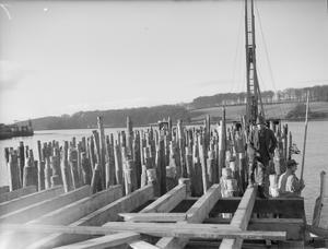AN AMERICAN BASE BUILT NEAR LONDONDERRY. 28 JANUARY 1942, LISAHALLY, NORTHERN IRELAND.