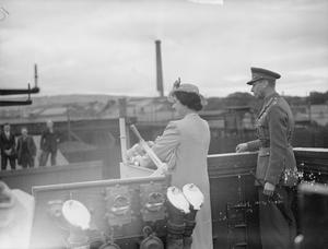 KING AND QUEEN VISIT NAVAL BASE AT LARNE, NORTHERN IRELAND. 26 JUNE 1942.