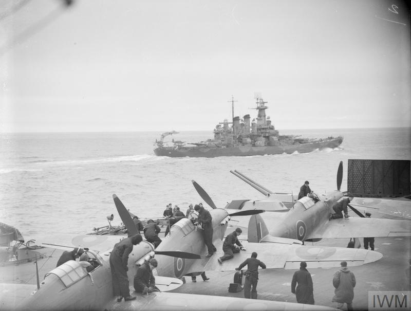 ANGLO-AMERICAN BATTLE FLEET COVERS EAST AND EAST BOUND CONVOYS TO AND FROM NORTH RUSSIA. 1-9 JULY 1942.