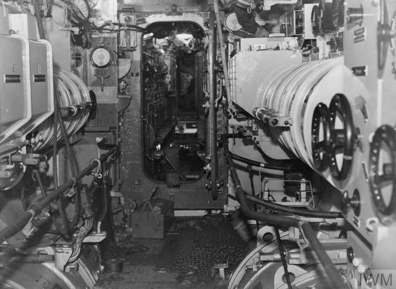 Interior Of Hm Submarine Graph Captured German U Boat