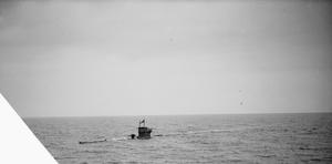 HM SUBMARINE GRAPH, EX-U-BOAT (U570). 19 TO 21 FEBRUARY 1942, IN THE CLYDE AS HMS GRAPH UNDERWENT TRIALS.