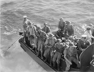THE BRITISH OPERATIONS AT MADAGASCAR. 8 MAY 1942, ON BOARD THE BATTLESHIP HMS RAMILLIES AND ON MADAGASCAR. BRITISH SEA, AIR AND LAND OPERATIONS AT MADAGASCAR WERE SHORT, SHARP AND SUCCESSFUL. FRENCH FORCES SURRENDERED AND A PEACE PROTOCOL WAS SIGNED AT ANTSIRANE WHEREBY THE BRITISH TOOK POSSESSION OF THE NAVAL BASE AT DIEGO SUAREZ.