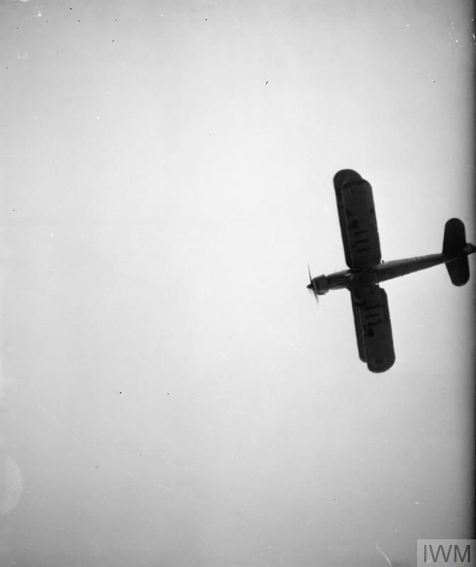 FLEET AIR ARM FAIREY ALBACORES PRACTICE TORPEDO ATTACK. MAY 1942, ON BOARD THE DESTROYER HMS WHEATLAND.