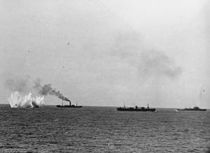 MALTA CONVOY FIGHTS ITS WAY THROUGH WITH LOSSES. 14-16 JUNE 1942.