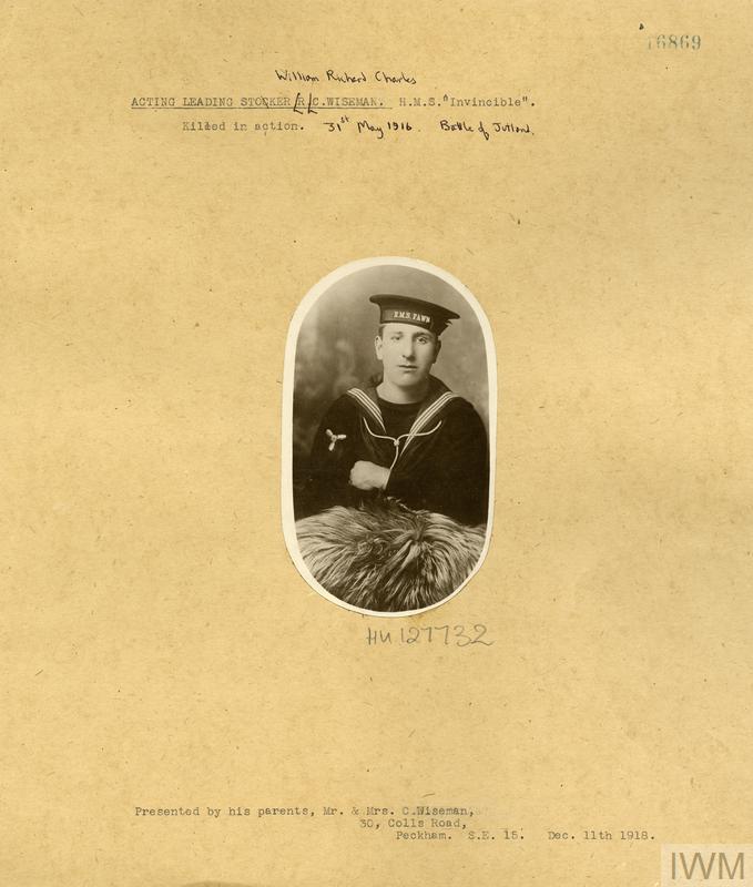 Acting Leading Stoker William Richard Charles Wiseman K/8075