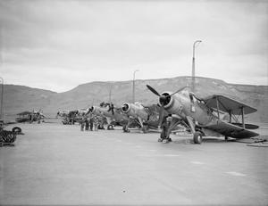 BRITISH AND US PLANES AND WARSHIPS COVER RUSSIAN CONVOY. 29 MAY TO 3 JUNE 1942, ON BOARD HMS VICTORIOUS AT SEA AND AT HVALFJORD, ICELAND.