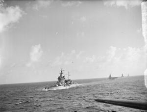 SHIPS OF THE EASTERN FLEET. INDIAN OCEAN, 16 JULY 1942.