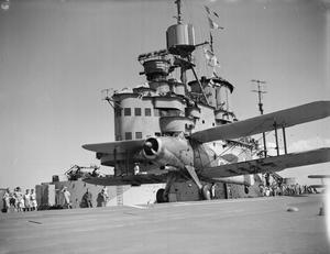 THE BRITISH AIRCRAFT CARRIER, HMS FORMIDABLE, ON ACTIVE SERVICE. SEPTEMBER 1942.