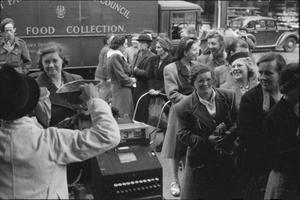 BRITAIN QUEUES FOR FOOD: RATIONING AND FOOD SHORTAGES IN WARTIME, LONDON, ENGLAND, UK, 1945