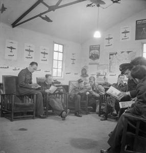 BELGIAN AIR TRAINING SCHOOL IN BRITAIN: TRAINING AT SNAILWELL, CAMBRIDGESHIRE, ENGLAND, UK, 1945