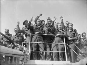 "SERVICEMEN'S LINER - THE BRITISH TROOPSHIP ""GEORGIC"": ARMY TRANSPORT, LIVERPOOL, LANCASHIRE, ENGLAND, UK, c JULY 1945"