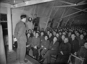 GERMAN PRISONERS OF WAR IN BRITAIN: EVERYDAY LIFE AT A GERMAN POW CAMP, UK, 1945