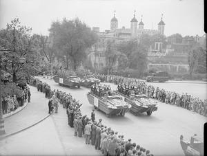 VICTORY PARADE IN LONDON, ENGLAND, UK, 8 JUNE 1946