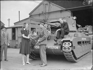 MATILDA TANK PRODUCTION DURING THE SECOND WORLD WAR, UK