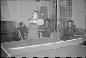 MUNITION GIRLS' CLUB: WELFARE AT A MINISTRY OF SUPPLY FACTORY, UK, 1941