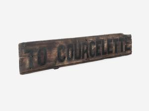 direction sign, To Courcelette