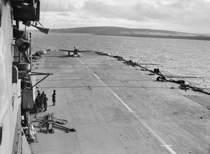 NAVAL FORCE H, STRIKE FORCE FOR NORTH AFRICA. 5 TO 10 NOVEMBER 1942, ON BOARD THE AIRCRAFT CARRIER HMS FORMIDABLE, IN THE MEDITERRANEAN.