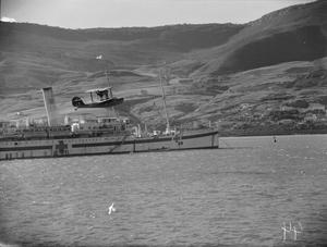 NORTH AFRICA - FLEET AIR ARM SUPERMARINE WALRUS KEEPS WATCH OVER HOSPITAL SHIP. FORCE H AT SEA AND IN HARBOUR, 12 TO 14 JANUARY 1943, AT SEA AND AT MERS-EL-KEBIR.
