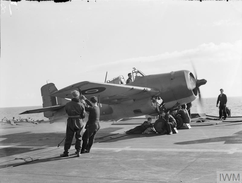 GRUMMAN MARTLET - THE MOBILE ARMAMENT OF A BRITISH AIRCRAFT CARRIER. DECEMBER 1942, ON BOARD HMS FORMIDABLE IN THE MEDITERRANEAN, HARD HITTING GRUMMAN MARTLET FIGHTERS BASED ON A BRITISH AIRCRAFT CARRIER ACT AS MOBILE ARMAMENT FOR THE PROTECTION OF THE CARRIER OR ITS CONVOY FROM AIR ATTACK.