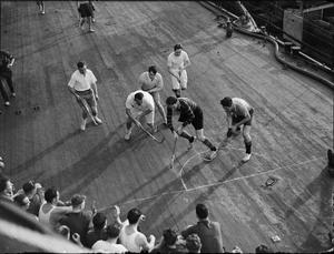 MEN OF THE HMS RODNEY KEEP FIGHTING FIT. 20 JANUARY 1943, MERS-EL-KEBIR, ON BOARD HMS RODNEY.