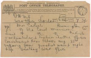 Private Papers of Captain F M M Carlisle MC