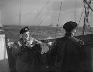 MEN WHO CLEAR THE WAY FOR THE NAVY: A MOTOR MINESWEEPER ON THE JOB. 27 JANUARY TO 1 FEBRUARY 1943, ON BOARD MOTOR MINESWEEPER 136, LIFE ON BOARD A LITTLE BOAT THAT GOES RIGHT INTO THE HEART OF KNOWN ZONES TO CLEAR THE WAY OF MINES FOR SHIPS OF THE NAVY AND MERCHANT NAVY.